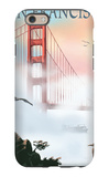Golden Gate Bridge in Fog - San Francisco, California iPhone 6 Case by  Lantern Press