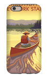 The Adirondacks, New York State - Canoe Scene iPhone 6 Case by  Lantern Press