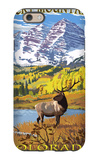Maroon Bells - Rocky Mountain National Park iPhone 6 Case by  Lantern Press