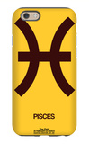 Pisces Zodiac Sign Brown iPhone 6 Case by  NaxArt
