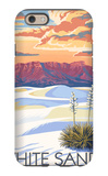 White Sands National Monument, New Mexico - Sunset Scene iPhone 6 Case by  Lantern Press
