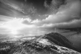 Mist and Sun at Golden Gate Bridge, Black and White, San Francisco Photographic Print by Vincent James