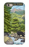 Leconte Creek and Mt. Leconte - Great Smoky Mountains National Park, TN iPhone 6 Case by  Lantern Press