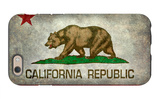 California State Flag With Distressed Treatment iPhone 6 Case by Bruce stanfield
