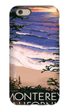 Monterey, California - Sunset and Beach iPhone 6 Case by  Lantern Press