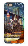 New York City, NY - Skyline at Night iPhone 6 Case by  Lantern Press