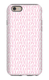 Pink Love Love Love iPhone 6 Case by  Avalisa