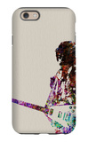 Hendrix With Guitar Watercolor iPhone 6 Case by  NaxArt