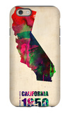 California Watercolor Map iPhone 6 Case by  NaxArt