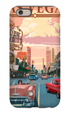 Las Vegas Old Strip Scene iPhone 6 Case by  Lantern Press