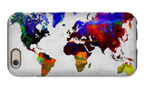 World Watercolor Map 12 iPhone 6 Case by  NaxArt