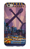 Nashville, Tennessee - Skyline at Night iPhone 6 Case by  Lantern Press