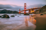 In Reflection at Marshall Beach, Golden Gate Bridge, San Francisco Photographic Print by Vincent James