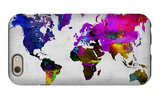World Watercolor Map 13 iPhone 6 Case by  NaxArt