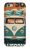 Big Sur, California - VW Van Blockprint iPhone 6s Case by  Lantern Press