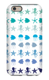 Blue Under the Sea iPhone 6 Case by  Avalisa