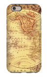 Vintage Map Western iPhone 6 Case by Malcolm Watson