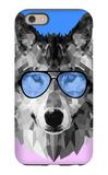 Woolf in Blue Glasses iPhone 6 Case by Lisa Kroll