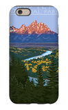Grand Teton National Park - Snake River Overlook iPhone 6 Case by  Lantern Press