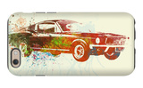 Ford Mustang Watercolor iPhone 6 Case by  NaxArt