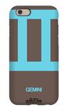 Gemini Zodiac Sign Blue iPhone 6 Case by  NaxArt