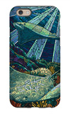 Rays - Paper Mosaic iPhone 6 Case by  Lantern Press