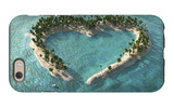 Aerial View Of Heart-Shaped Tropical Island iPhone 6 Case by  Mike_Kiev