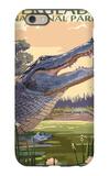 The Everglades National Park, Florida - Alligator Scene iPhone 6 Case by  Lantern Press