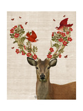 Deer and Love Birds Affiches par  Fab Funky