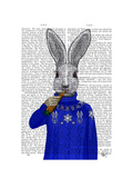 Rabbit in Sweater Posters by  Fab Funky