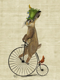 March Hare on Penny Farthing Poster by  Fab Funky