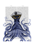 Captain Octopus Premium Giclee Print by  Fab Funky