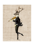 Dancing Deer with Violin Posters by  Fab Funky