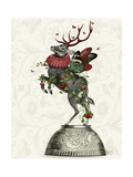 Strawberry Deer Premium Giclee Print by  Fab Funky