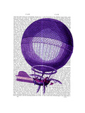 Blanchards Hydrogen (Purple) Hot Air Balloon Poster by  Fab Funky