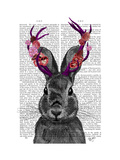 Jackalope with Pink Antlers Posters by  Fab Funky