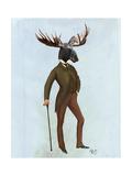 Moose in Suit Full Print by  Fab Funky