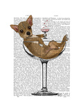 Chihuahua in Cocktail Glass Prints by  Fab Funky