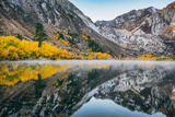 Morning Autumn Reflections at Convict Lake, Mammoth Lakes, Eastern Sierras Photographic Print by Vincent James