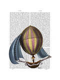 AirShip with Blue Sails Posters by  Fab Funky