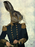Lieutenant Hare Premium Giclee Print by  Fab Funky
