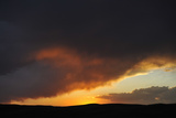 Sunset and Storm Clouds over the Horizon Photographic Print by Michael Forsberg
