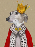 Greyhound Queen Print by  Fab Funky