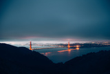 Blue Morning Mood and Golden Gate, San Francisco Photographic Print by Vincent James