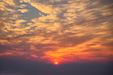 Sunrise Fireball - Smokey Clouds Over San Francisco Photographic Print by Vincent James