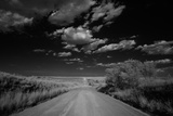 Black and White Landscape of a Rural Dirt Road Photographic Print by Michael Forsberg