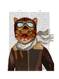 Flying Cat Premium Giclee Print by  Fab Funky