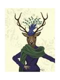Deer and Fascinator Posters af Fab Funky