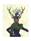 Deer and Fascinator Art by  Fab Funky