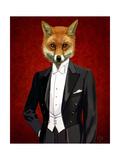 Fox in Evening Suit Portrait Plakater av  Fab Funky